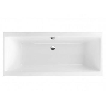Wanna Excellent Pryzmat Slim prostokątna 160,5x75,5 cm akrylowa, biała