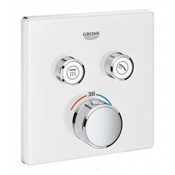 Bateria podtynkowa Grohe Grohtherm SmartControl termostatyczna 2-odbiorniki wody, biała