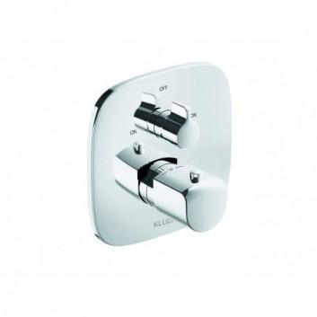 Bateria wannowo-prysznicowa podtynkowa Kludi Ameo dwuuchwytowa termostatyczna, 2-odbiorniki chrom