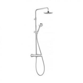 Zestaw prysznicowy termostatyczny Kludi Dual Shower deszczownica 20cm chrom
