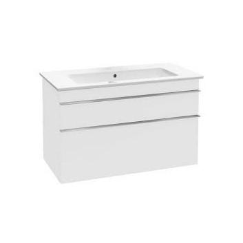 Szafka podumywalkowa Vailleroy&Boch Venticello. 753x590x502mm, uchwyty chrom, glossy white- sanitbuy.pl