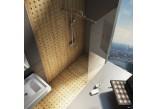 Kabina prysznicowa prostokątna Ravak Walk In Wall 100x200 cm z powłoką AntiCalc, profile aluminium szkło przezroczyste - sanitbuy.pl