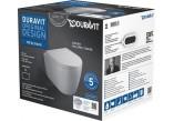Duravit ME by Starck Zestaw WC wiszący Compact Duravit Rimless  z deską sedesową wolnoopadającą,kolor biały