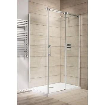 Drzwi prysznicowe 140 lewe Radaway Espera KDJ szkło przejrzyste, profil chrom- sanitbuy.pl