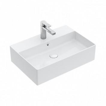 Umywalka nablatowa Villeroy & Boch Memento 2.0 60x42 cm z przelewem, biała 4A076001- sanitbuy.pl
