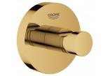 Haczyk Grohe Essentials na płaszcz kąpielowy, złoty