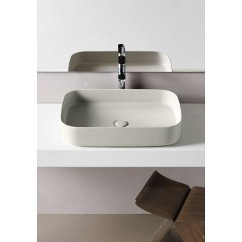 Umywalka Cielo Shui Comfort, stawiana na blat, prostokątna, 60x40 cm, polvere