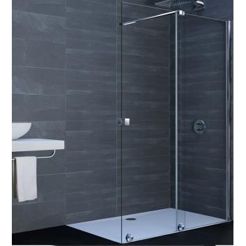 Drzwi prysznicowe suwane Huppe Xtensa 110-120, prawe, szkło przejrzyste czarny profil