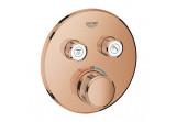 Bateria podtynkowa Grohe Grohtherm SmartControl termostatyczna 2-odbiorniki wody, warm sunset