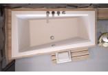 Wanna asymetryczna Besco Intima Slim, 150x85cm, wersja lewa, akrylowa, biała