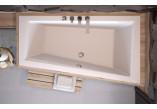 Wanna asymetryczna Besco Intima Slim, 150x85cm, wersja prawa, akrylowa, biała