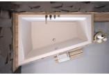Wanna asymetryczna Besco Intima Duo, 180x125cm, wersja lewa, akrylowa, biała
