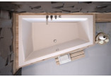 Wanna asymetryczna Besco Intima Duo Slim, 180x125cm, wersja lewa, akrylowa, biała