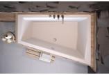 Wanna asymetryczna Besco Intima Duo Slim, 180x125cm, wersja prawa, akrylowa, biała