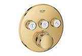 Bateria podtynkowa Grohe Grohtherm SmartControl, termostatyczna, 3-odbiorniki wody, cool sunrise