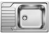 Zlewozmywak Blanco Dinas XL 6 S 780x500 mm odwracalny, z korkiem automatycznym - stal szczotkowana