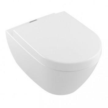 Zestaw Villeroy & Boch Subway 2.0 miska WC wisząca+deska sedesowa wolnoopadająca, Weiss Alpin