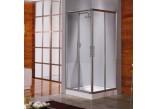 Kabina prysznicowa Novellini Lunes A 87-90 cm narożna - 1 część, profil srebrny, szkło przezroczyste WIESZAK GRATIS