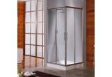 Kabina prysznicowa Novellini Lunes A 99 -100 cm narożna - 1 część, profil srebrny, szkło przezroczyste