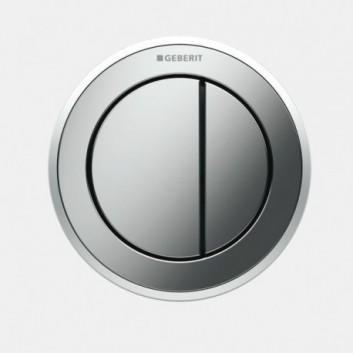 Przycisk uruchamiający do WC Geberit Typ 10 pneumatyczny, chrom błyszczący/chrom matowy, ręczny, dwudzielny, podtynkowy- sanitbuy.pl
