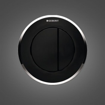 Przycisk do WC Geberit Typ 10 pneumatyczny, chrom matowy/błyszczący, ręczny, dwudzielny, podtynkowy, meblowy- sanitbuy.pl